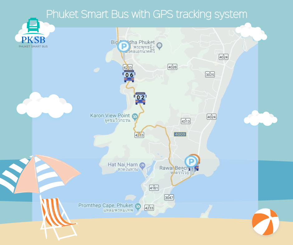 PKSB, Phuket Smart Bus - GPS tracking system